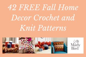 42 Free Fall Home Decor Crochet and Knit Patterns