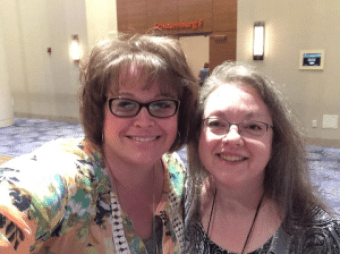 Marly and Tammy recently at Stitches Midwest (Marly's picture)