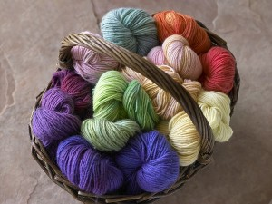 basket of colors shown on worsted  020