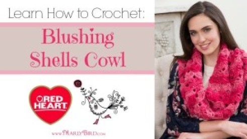Learn to Crochet the Blushing Shells Cowl. Free Pattern! Tutorial by MarlyBird.com