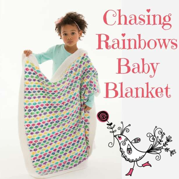 LW5174 Chasing Rainbows Baby Blanket by Marly Bird