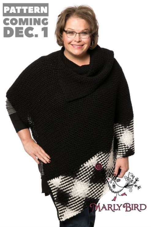 Planned Pooling Argyle Poncho Free Pattern by Marly Bird with Video Tutorial
