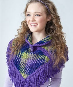 Red Heart Planned Pooling eBook-Argyle Cowl