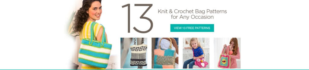 FREE knit and crochet bag patterns from Red Heart
