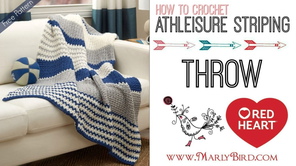 Athleisure Striping Throw Crochet Pattern and Free Video Tutorial