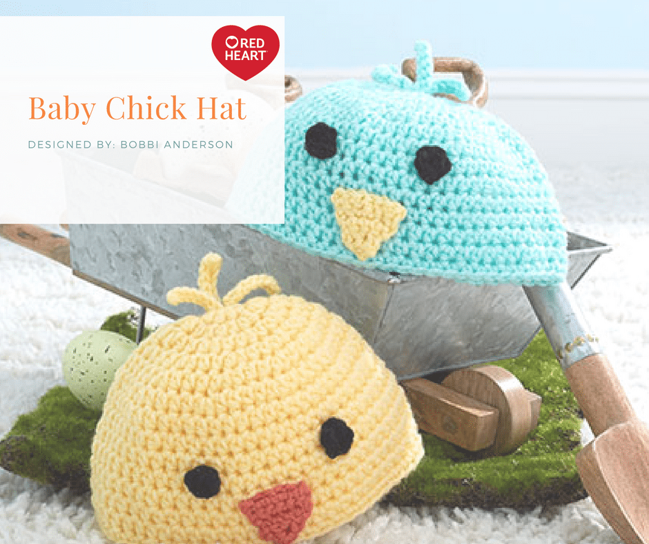 Red Heart Baby Chick Hat