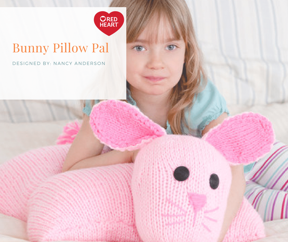 Red Heart Bunny Pillow Pal