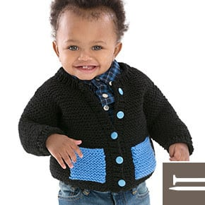 Red Heart FREE Pattern- Cute & Classic Baby Cardigan
