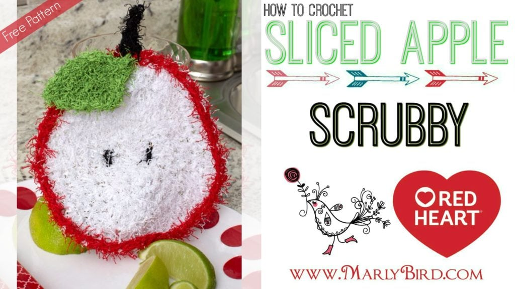 How to Crochet the Sliced Apple Scrubby