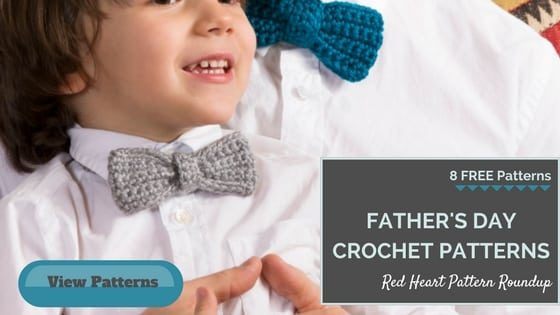 Crochet Father's Day FREE patterns from Red Heart Yarns