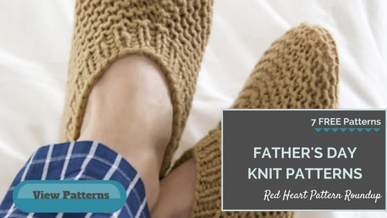Knit Father's Day Patterns FREE from Red Heart Yarns