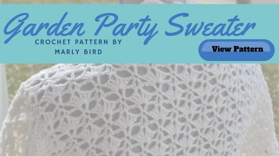 Garden Party Crochet Sweater by Marly Bird