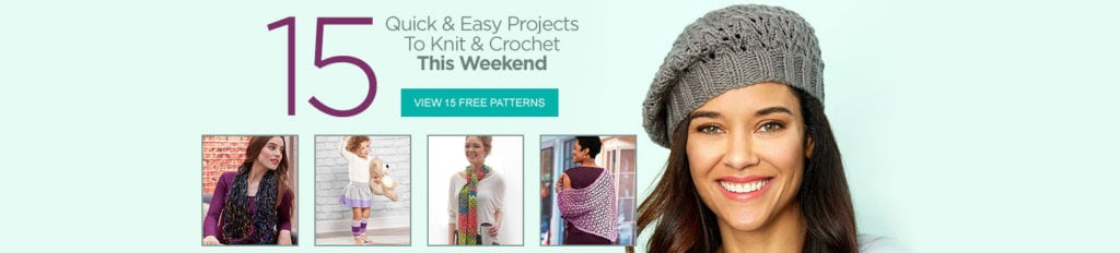 15 Quick and Easy Projects to Knit and Crochet with Red Heart