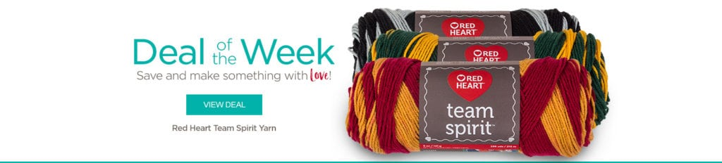 Red Heart Deal of the Week-Team Spirit Yarn
