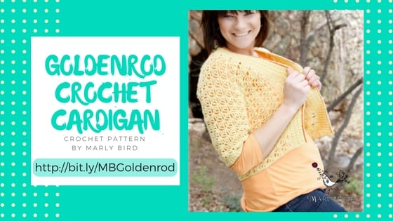 Goldenrod Crochet Cardigan by Marly Bird