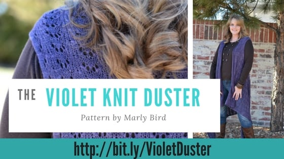 Violet Knit Duster pattern by Marly Bird