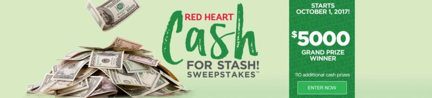 Red Heart Cash for Stash