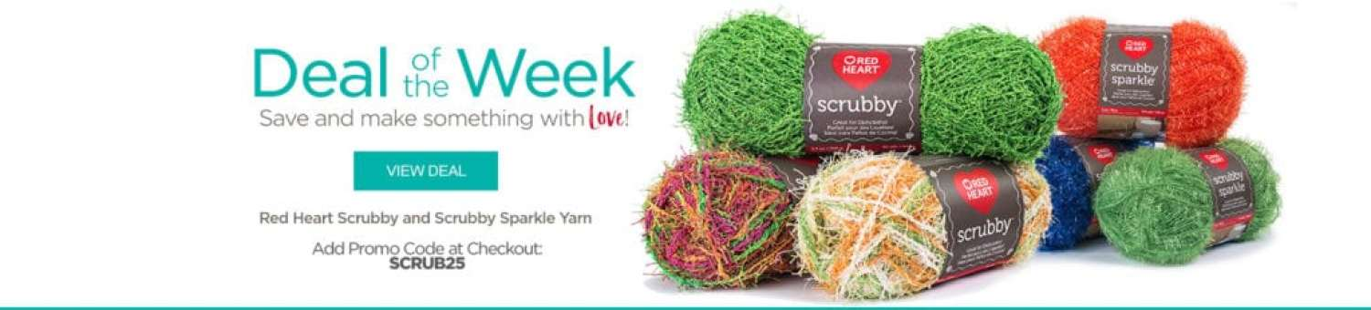 Red Heart Deal of the Week-Scrubby and Scrubby Sparkle