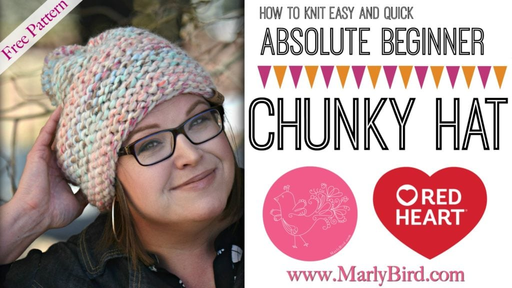 Absolute Beginner Chunky Hat by Marly Bird