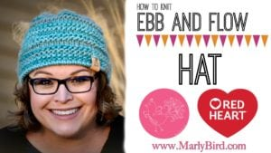 How to knit the FREE Ebb and Flow Hat pattern by Marly Bird