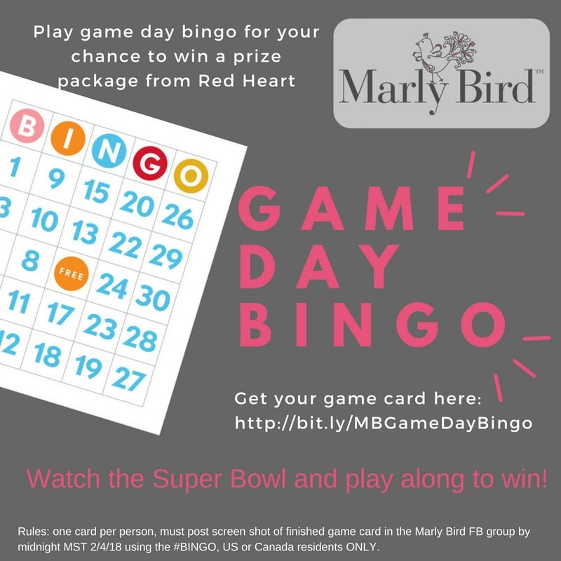 Marly Bird Game Day Bingo
