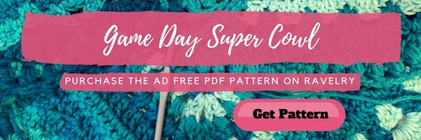 Marly Bird Game Day Super Cowl Crochet Pattern