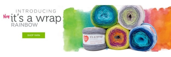 It's a Wrap Rainbow-NEW yarn by Red Heart