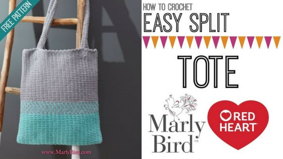 Video Tutorial-How to Crochet the Easy Split Tote with Marly Bird