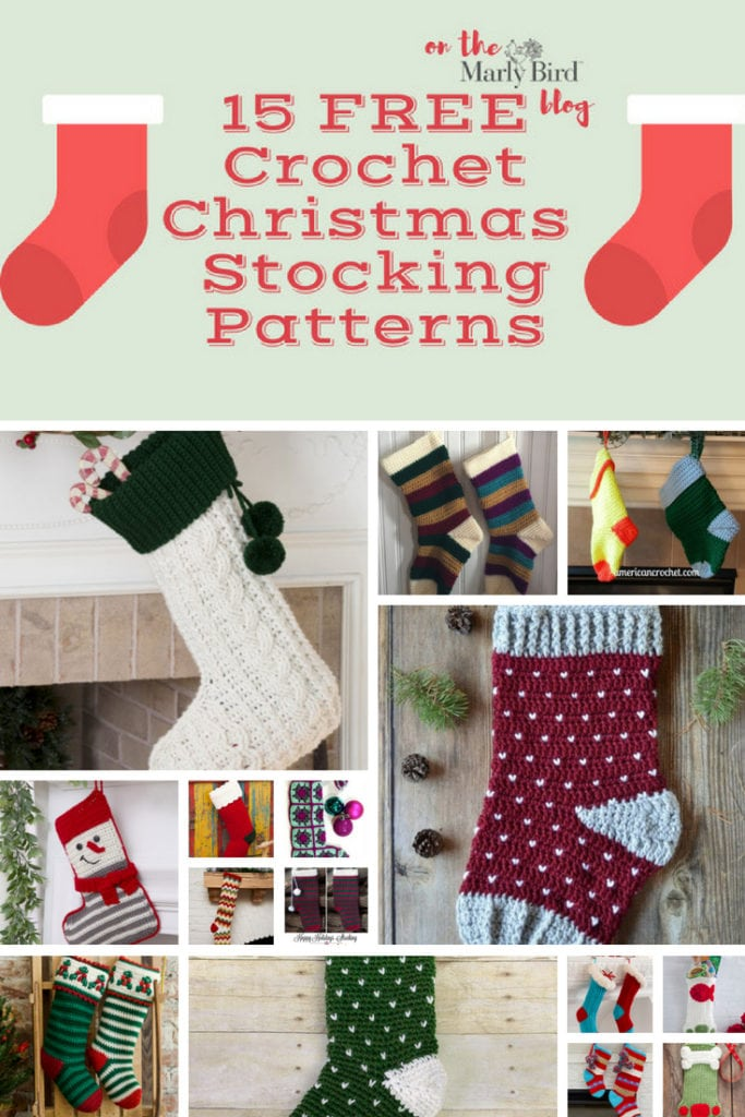 40 FREE Crochet Christmas Stockings Patterns Marly Bird™ Extraordinary Free Crochet Christmas Stocking Patterns