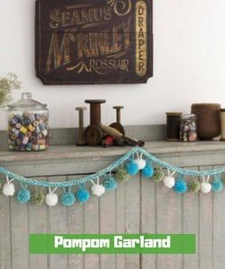 Pompom Garland by Becky Bishop