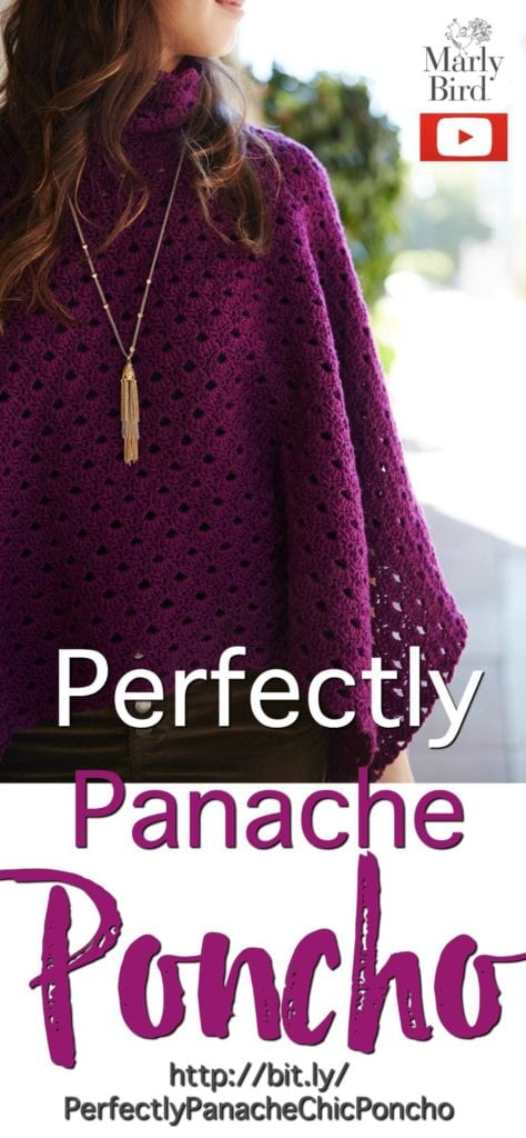 Crochet Video Tutorial with Marly Bird-Learn how to crochet the Perfectly Panache Poncho using Chic Sheep by Marly Bird™