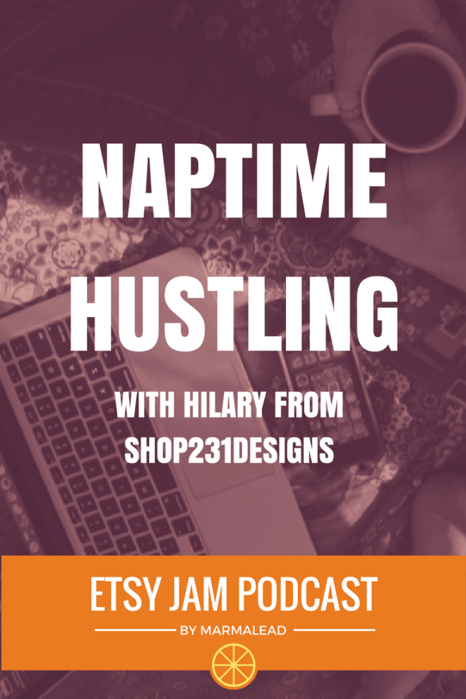 "In this episode we get to chat with Hilary from Shop231Designs. Hilary started her Etsy shop in 2015 and in just over a year has more than 2500 sales! Stick around and hear Hilary coin the term ""naptime hustle,"" talk about time management, working to find a niche market and offering some really great advice for early shops or sellers who are just getting started - up next on this episode of Etsy Jam!"