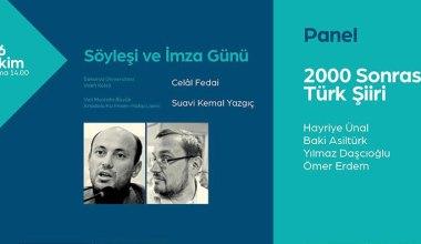 2000 Sonrası Türk Şiiri Konuşulacak