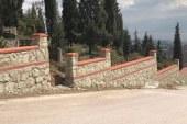 17 Ağustos Deprem Şehitliği taş duvarla çevreleniyor