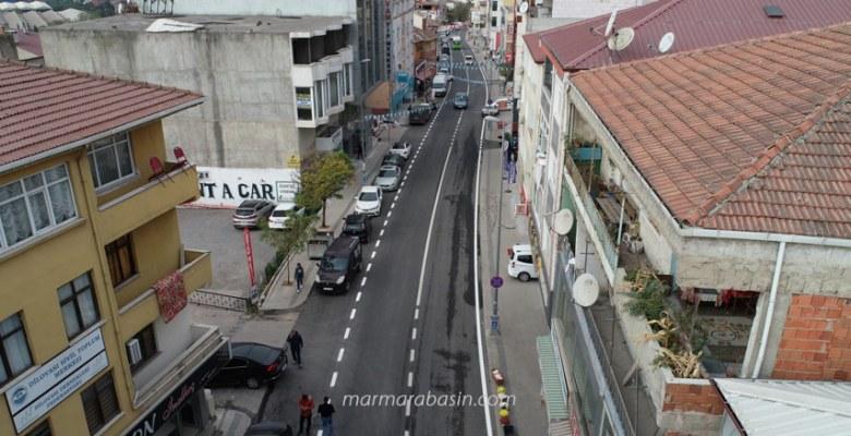 Dilovası Bağdat Caddesi yenilendi