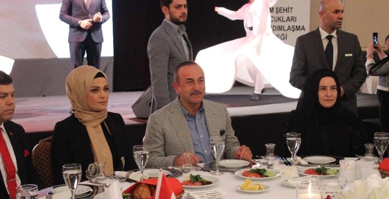 Dışişleri Bakanı Çavuşoğlu, şehit yakınlarıyla iftarda bir araya geldi