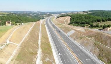 Kuzey Marmara Otoyolu'nun trafiğe açılan bölümleri havadan görüntülendi
