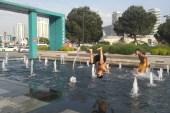 Süs havuzlarında tehlikeli eğlence