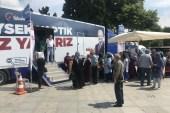 Beşiktaş'ta vatandaşlara ücretsiz göz taraması başladı