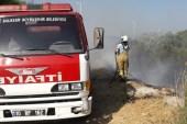 Burhaniye'de ot yangını paniğe neden oldu