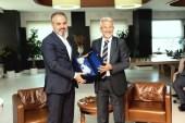 """Büyükşehir Belediye Başkanı Aktaş'tan Nilüfer Belediye Başkanı Turgay Erdem'e """"Hayırlı olsun"""" ziyareti"""