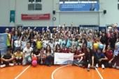 Göçmen çocuklar  görme engelli sporcularla buluştu