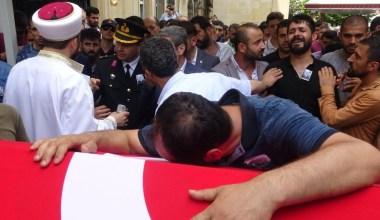 Kaza geçiren jandarmanın cenazesinde gözyaşları sel oldu