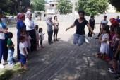 Minik öğrenciler geleneksel çocuk oyunlarıyla eğlendi