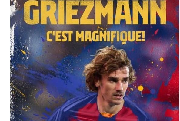Barcelona, Griezmann'ı kadrosuna kattı