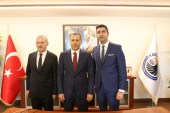 Vali Ali Yerlikaya'dan Başkan Gökhan Yüksel'e tebrik ziyareti