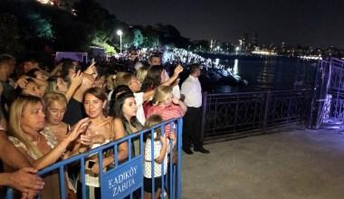 30 Ağustos Zafer Bayramı Moda İskelesi'nde mapping ve ışık gösterisiyle kutlandı
