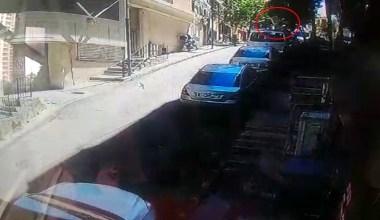 4. kattan arabanın üzerine düştü