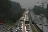 Yağış nedeniyle D-100'de trafik durma noktasına geldi