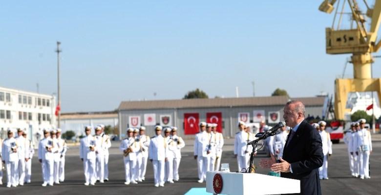 """Cumhurbaşkanı Erdoğan: """"Nasıl korvetlerimizi kendimiz inşa ettiysek, kendi savaş uçağımıza da kavuşacağız"""""""